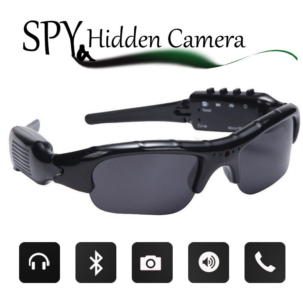 Spy Sunglasses - Hidden Video Camera Bluetooth Sunglasses
