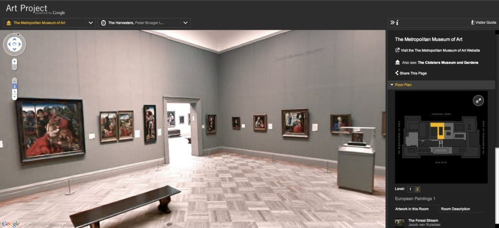 Google 360 view of inside museums virtual reality