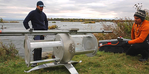 A portable water power generator that fits into your backpack