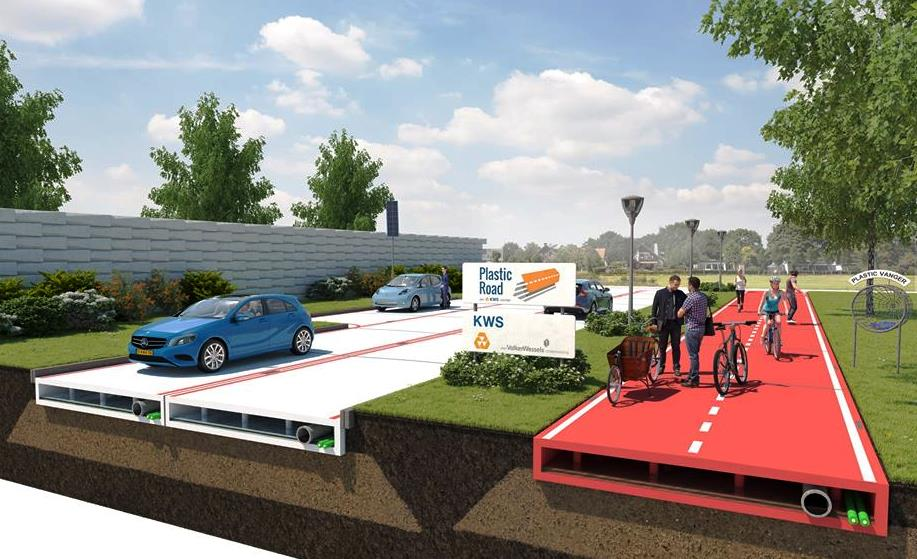 Plastic Road Concept Build Roads in Days