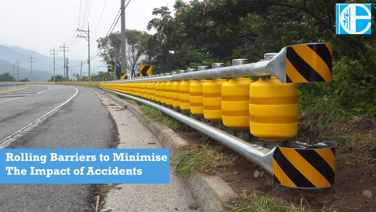 Rolling Barriers System to Minimize the Impact of Vehicle Accident