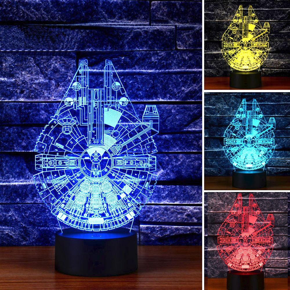 Home Gadgets Optical Illusion Millennium Falcon Decor toy Lamp