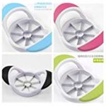 4pcs 4color Kitchen Gadgets Stainless Steel Apple Slicer Fruit Separator Thickeners