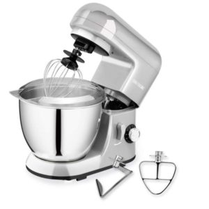 CHEFTRONIC Stand Mixer, Kitchen Mixer,Electric Mixer, 120V 350W, 6 Speeds, Tilt-head,4.2 QT Stainless Steel Bowl with Splash Guard,Dough Hook,Wire Whip, Flat Beater for Mother's Day.