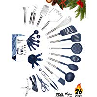 Kitchen Utensil Set - 26 Nonstick Stainless Steel Kitchen Gadgets