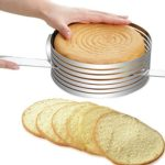 Stainless Steel Cake Cutter Slicer Adjustable Round Bread Cake Cutter Slicer Cake Ring Mold DIY Baking Tools Kitchen Accessoires