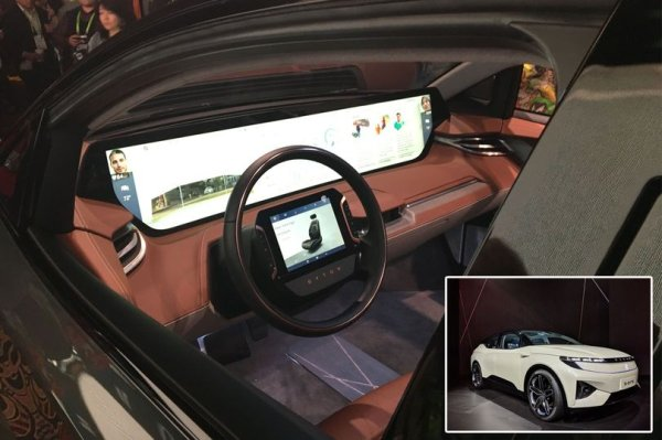 Byton reveals futuristic car with 48-INCH digital dashboard and AI at CES 2019