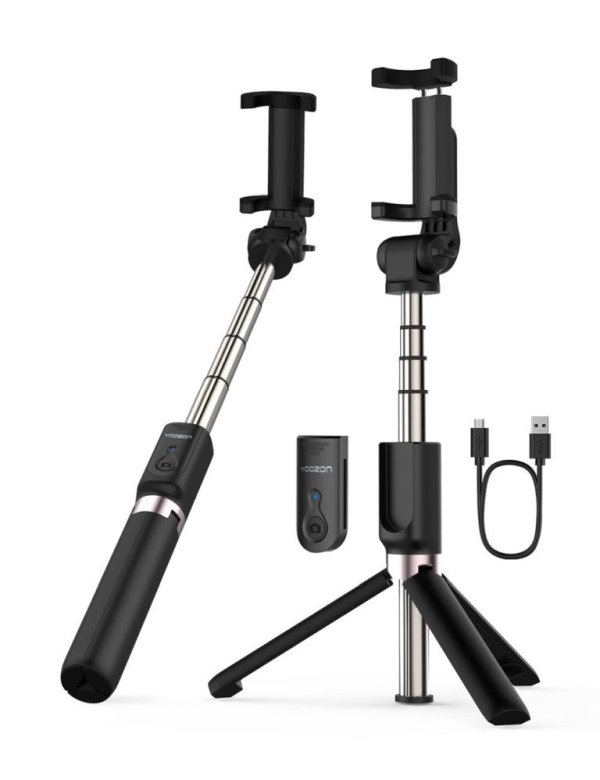 YOOZON EXTENDABLE SELFIE STICK WITH WIRELESS REMOTE AND TRIPOD