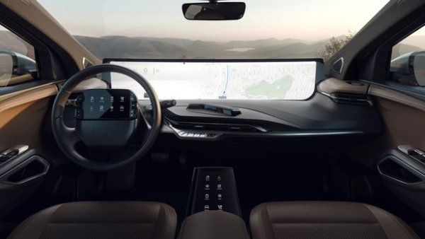 48-inch dashboard display can be controlled