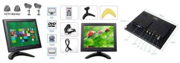 ALON CCTV Monitor With Remote Control