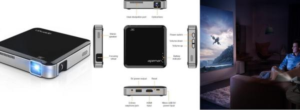 APEMAN Mini Video Projector