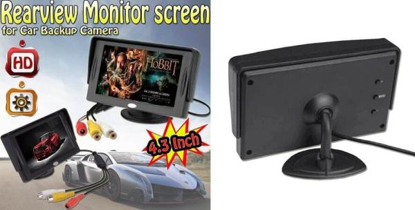 Aketek 4.3 Inch LCD TFT Rearview Monitor screen