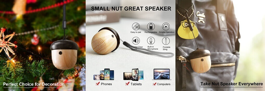 JSAUX Portable Ultra Mini Nut Speaker