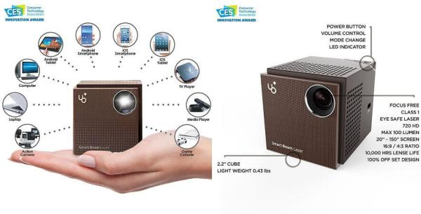 KDCUSA UO Smart Beam Laser Portable Mini Projector