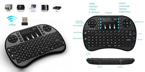 Rii i8+ 2.4GHz Mini Wireless Keyboard