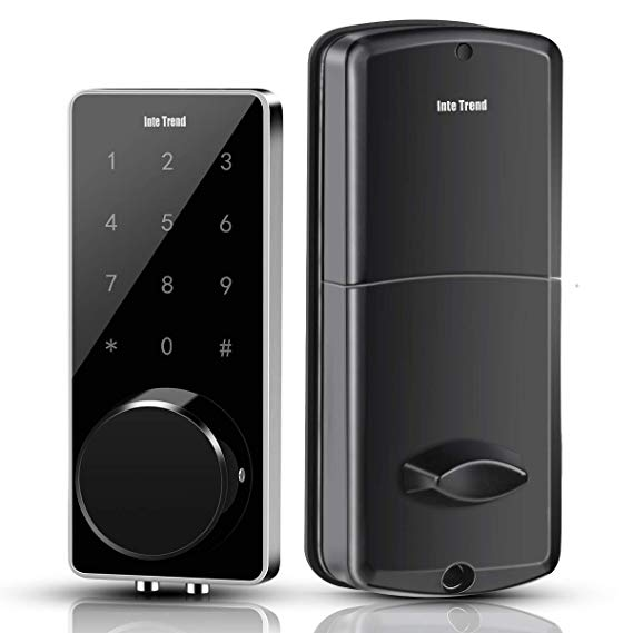 Smart Door Lock, InteTrend Electronic Deabolt Locks with Touchscreen