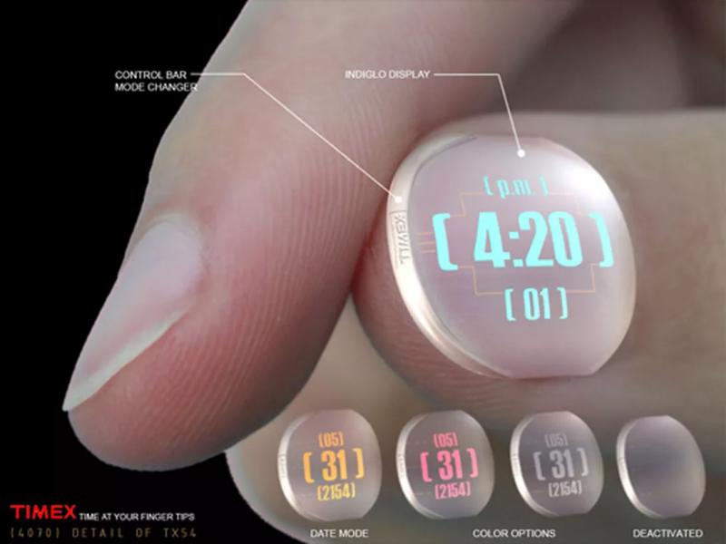 Nail watch: The future substitution of the wristwatch?