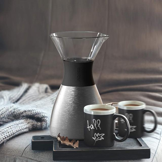 Asobu Silver Insulated Pour Over Coffee Maker